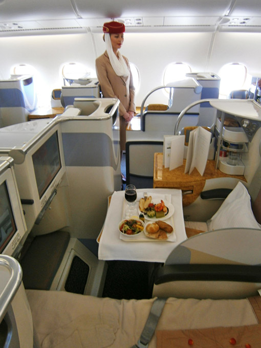 Business Class im Airbus A380